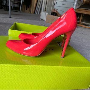Ted Baker London orange pink high heels pump